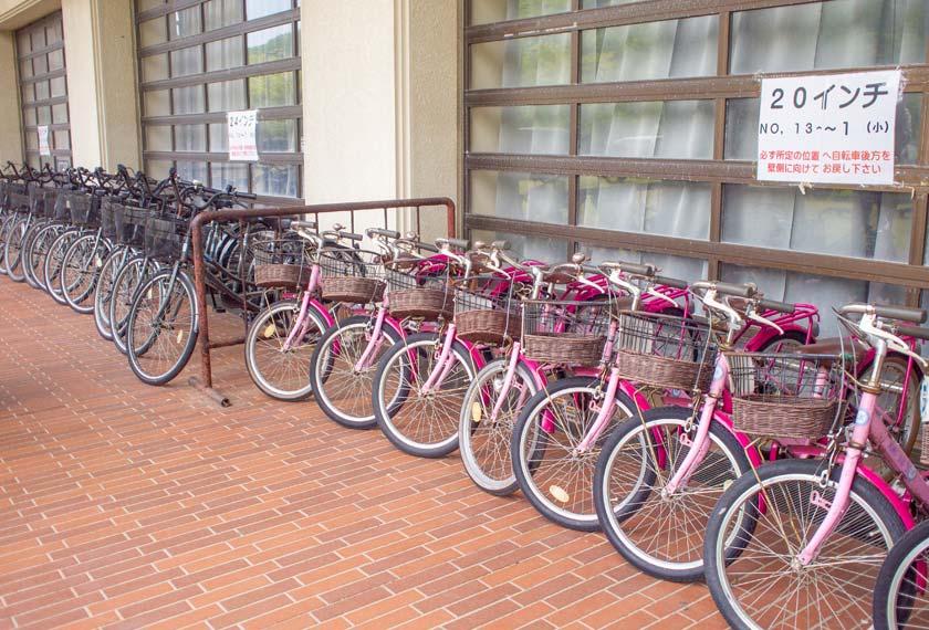 レンタサイクル用の自転車