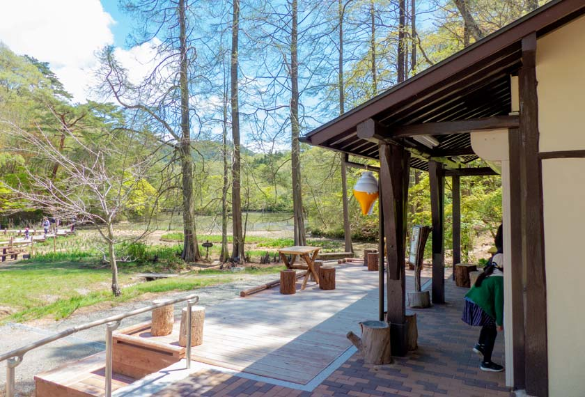 長谷池周辺にあるカフェ