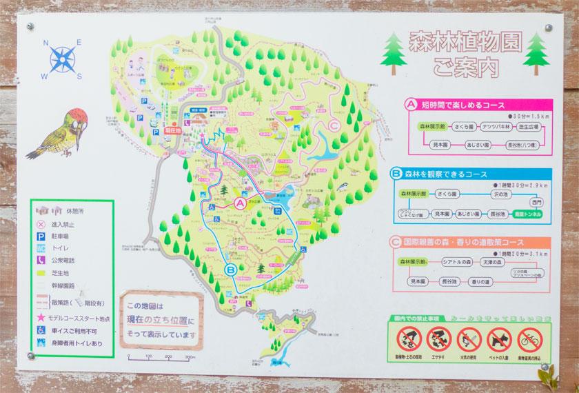神戸市立森林植物園のマップ