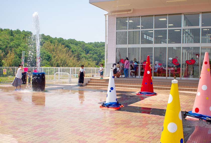 めんたいパーク神戸三田の水遊び場