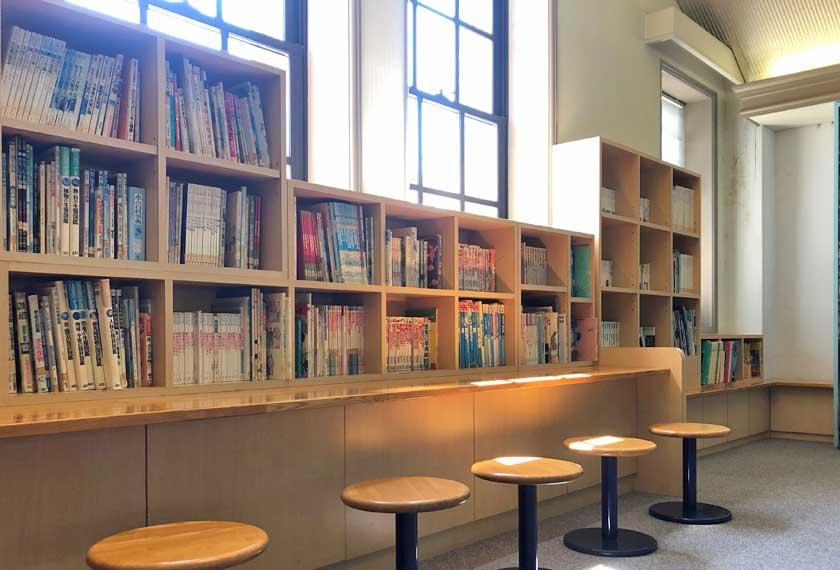 水の科学博物館の図書コーナー