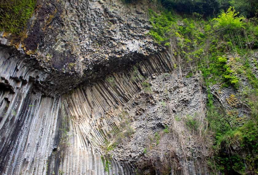 玄武岩の様子
