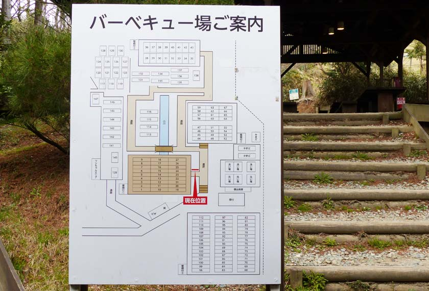 バーベキュー場のマップ
