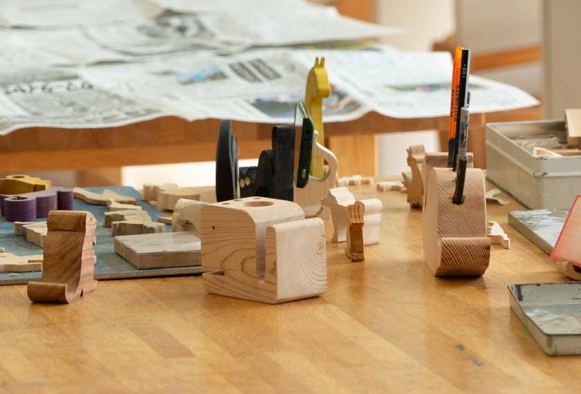 自然学習センターの木工室
