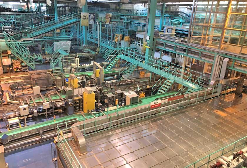 キリンビール神戸工場の内部