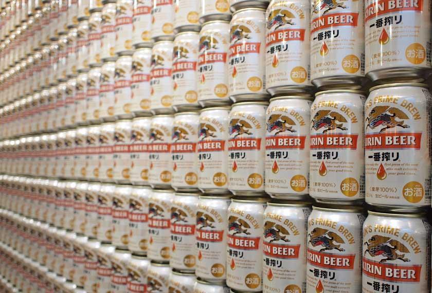 2000本のビール缶