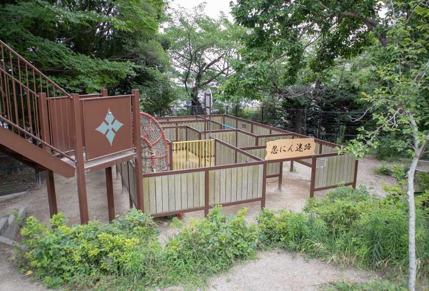 五月山公園の忍にん迷路