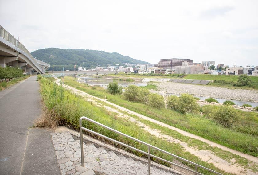 猪名川の河川敷